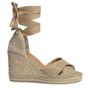 Castañer Bluma Linen Espadrille Wedge Sandals